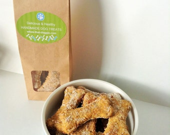 Handmade Healthy Dog Treats Peanut Butter & Banana All Natural Ingredients biscuits
