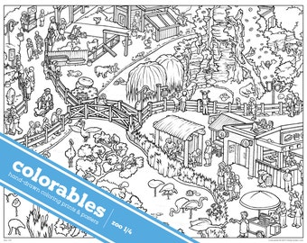 COLORABLES hand drawn coloring prints for kids and adults