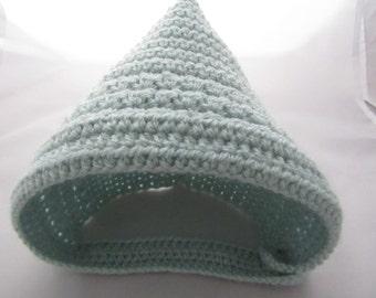 Crochet baby hat, crochet pixie hat,pixie hat baby hat, pixie baby bonnet, crochet pixie bonnet,newborn baby hat