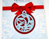 Christmas Bauble Ornament Die from Marianne Design and Cardmaking