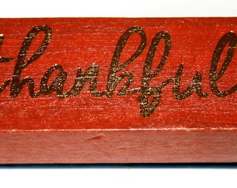 Thankful Rubber Stamp