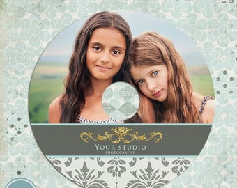 ON SALE Cd DVD label photoshop template - Instant Download
