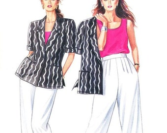 Simplicity Separates Pattern 7234 - Misses' Jacket, Tank Top and Pants - It's So Easy Simplicity Patterns - Sz 8 thru 20