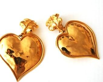 SONIA RYKIEL clip on earrings// ysl clip//haute couture// fashion