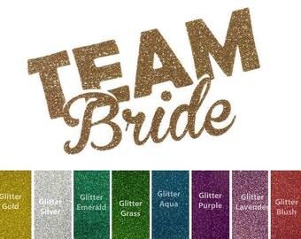 Diy BRIDAL TEAM BRIDE Iron On, Vinyl Applique, Logo, Decal, Shirt, Tank, Bachelorette Party, Bridesmaid, Maid, Wedding, Favor, Woman, Adult
