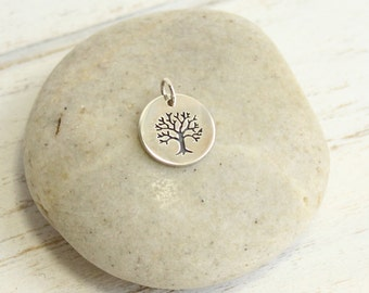 Sterling Silver Tree of Life Pendant -- One Piece