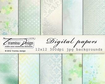 SALE Digital Scrapbooking Vintage Papers Pack 12
