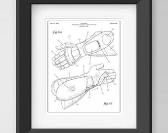 Turbo Time, Arm-nold Schwarzenegger Letterpress Patent Illustration