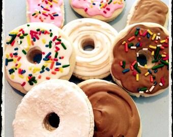 SALE-Donut Sugar Cookie Favors-Donut party-Donut favors