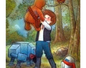 "Signed Giclee Mini Print by James Hance -  ""I Told You I'd Come Back!"" (Wookiee the Chew)"