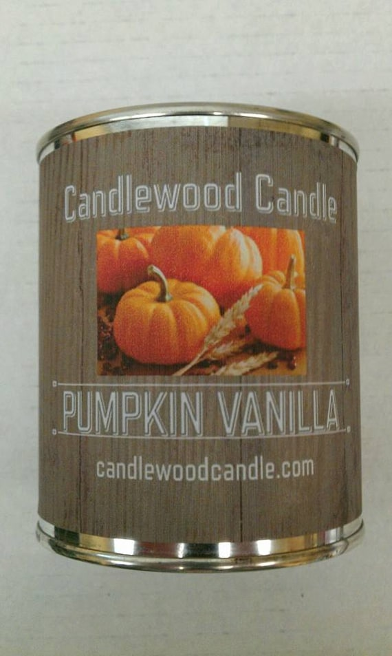 PUMPKIN VANILLA - Authentic Pumpkin Vanilla Wood Wick Candle 16 oz - Free Shipping USA