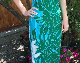 Vintage Hawaiian Halter Dress , Size Large
