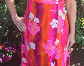 Vintage Hawaiian Dress, Size Large