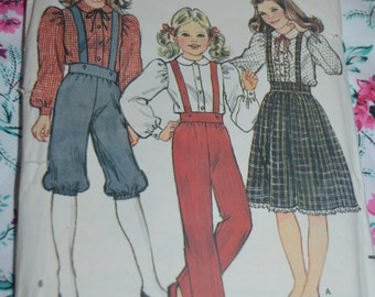 Butterick 4679 Girls Blouse Skirt Pants and Knickers Sewing Pattern - UNCUT - Sizes 7 - 14