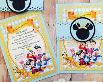 Prince Mickey Clubhouse Invitation | Mickey Clubhouse Birthday Invitation | Handmade Custom Invite | Luxury Invitation