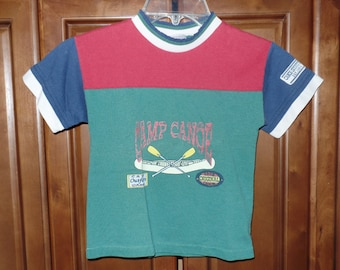 Vintage Buster Brown Camp Canoe Children's Shirt-Size 4