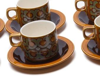 Hornsea Bronte 1974 Coffee Cups