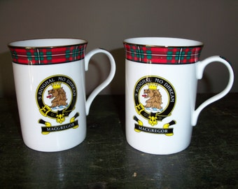 Pair of Macgregor Scotland Coffee Mugs Ceramic