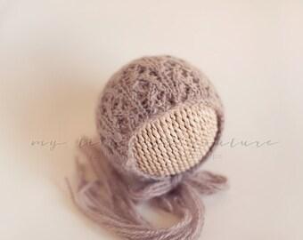 Newborn {Flurry} Knit Bonnet, Newborn Photography Prop, Other Colors Available