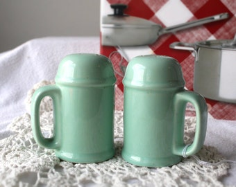 Green Salt and Pepper Shakers #524