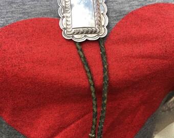 Beautiful Sterling Silver 925 Southwest Bolo Tie