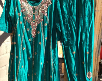 Teal Green Kurta