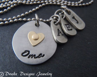personalized Oma necklace Mothers Day Oma gifts