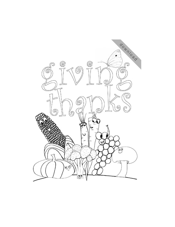 Thanksgiving Coloring Page Giving Thanks
