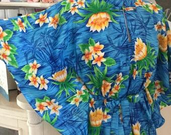 Vintage 1970's Royal Hawaiian Rayon Poncho Top
