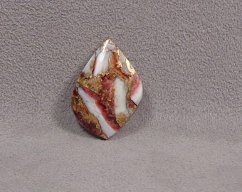 PURPLE SPINEY OYSTER and Bronze Metal Cabochon