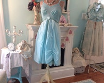 Upcycled Slip Dress Shabby Bluebird Woodland Fairytale