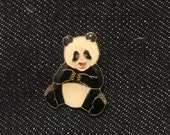 Vintage Panda Bear Enamel Lapel or Hat Pin