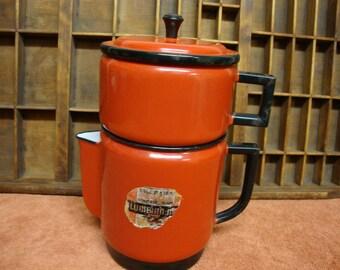 Columbian-Made Enamelware Drip Coffee Pot