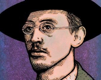 Joseph Plunkett. Irish Revolutionary. Executed 1916. by Jim FitzPatrick. Easter Rising, Easter1916, 1916 Rising, Irish, art