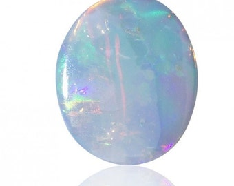 Valentines Day Sale 0.50ct Australian Opal Doublet Coober Pedy, Natural Untreated Loose Opal Piece SKU: 1880B007