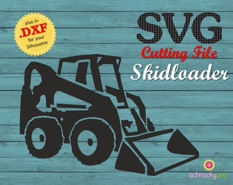 Skidloader SVG, skid-steer loader, skid-steer SVG, skid steer, Design Tractor, Construction SVG,  skid loader, skidsteer