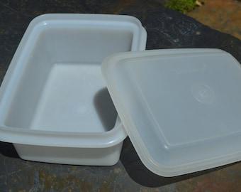Vintage Tupperware Freeze N Save Ice Cream Keeper/Storage Container 1254 & 1255