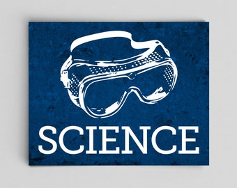 Science Goggles Print Old School Gifts for Him Gifts for Her Science Gift Teacher Gifts for Teachers Science Art Dorm Decor for Office Boss