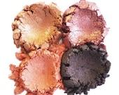 60% OFF - Mineral Makeup Eyeshadow - 4pc AUTUMN Makeup Eye Color Set - Natural Vegan Minerals