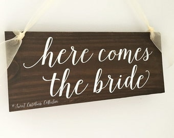 Here Comes the Bride Ring Bearer Sign - Here Comes Your Bride Ring Bearer Sign - WS-170