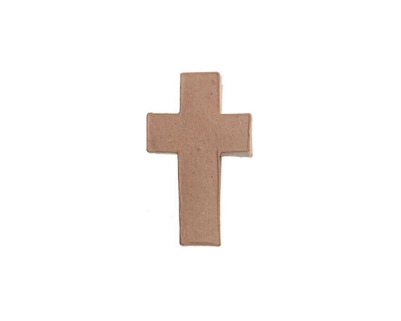 Cross shape paper mache cardboard box 5 inch diy crafts for Cardboard crosses for crafts