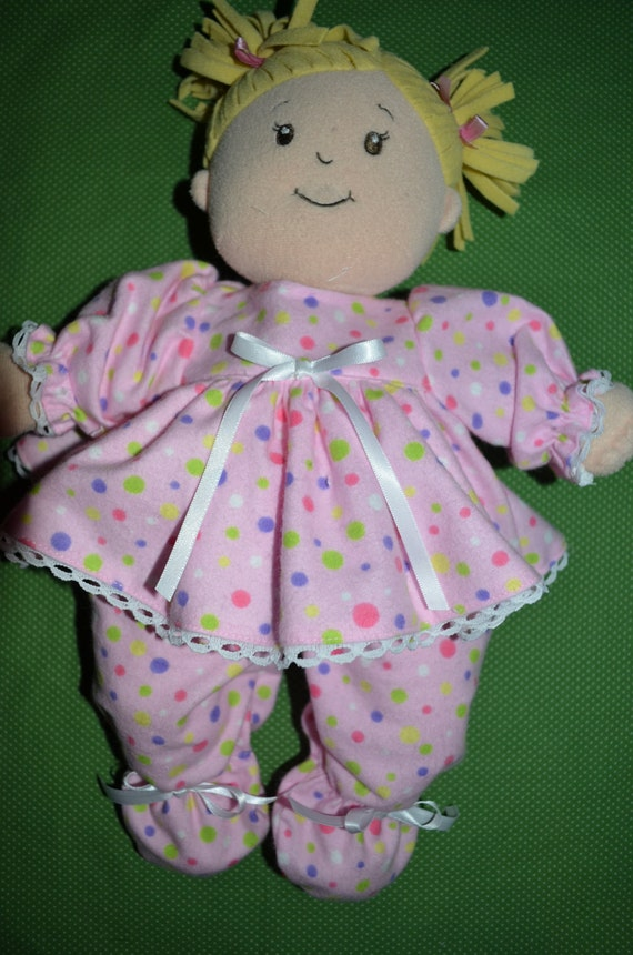 Doll Clothes for Baby Stella flannel footed pajamasBaby