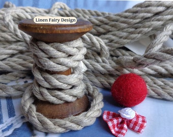 6 mm Elegant Linen Rope for Jewelry 5/10 meters = 5,5/11,1 yards Natural Grey Linen Rope for Crafts Jewellery Decorations