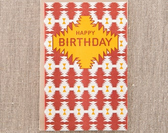 Happy Birthday Native Letterpress Greeting Card