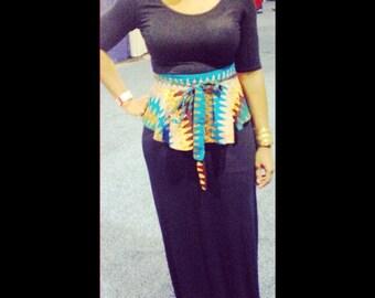 African Print Peplum Belt, African clothing, African Accessories, Ankara  fabric, African fabric, African Material