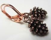 Antique Copper Fir Cone Earrings 3D Earrings 3D Fir Cone Dangle Earrings Woodland Earrings Pine Cone Earrings Nature Earrings Gift for Her