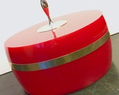 Vintage AVON Charisma Beauty Dust Red Vanity Trinket Container
