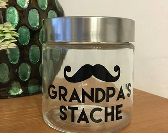 Grandpa's Stache or Grandpa's Candy  Decal   W/Free Shipping