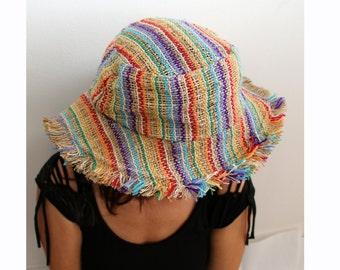 Sun Hemp Hat  - Hippie hat