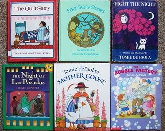 Tomie dePaola Book Collection of 12  - Bubble Factory, Quilt Story, Four Scary Stories, Night of Las Posadas, Jingle - Childrens Book Lot